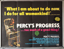 Cinema Poster: PERCY'S PROGRESS 1974 (Quad) Leigh Lawson Elke Sommer