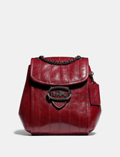 ❤NWT Coach Melody Backpack With Quilting Pewter/Deep Red