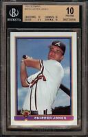 1991 Bowman #569 HOF Chipper Jones Atlanta Braves RC Rookie Card BGS 10 Pristine