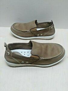 Org Crocs Boat/Deck Shoes Brown Leather *Boulder, Colorado Slip-On Mens Size 9m