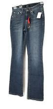EARL Jean Womens Slim Fit Boot Cut Embellished Stretch Jeans Flap Pocket Sz 4