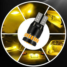 4x NEW Amber Yellow T10 LED Car Side Marker Parking Light Bulb 3014 194 168 158