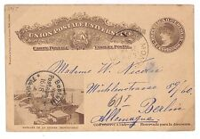S302 1902 Uruguay Berlin Germany Postal Stationery {samwells-covers}PTS