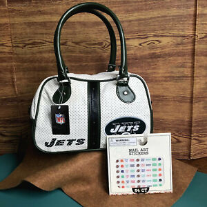 Officially licensed Bag Duffle New York Jets Nylon Sports w/ Bonus!!! Decals