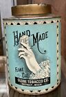 Vtg HAND MADE Flake Cut TOBACCO Tin-CANISTER-Empty-Globe Tobacco Co. DETROIT