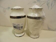 NEW Noritake SORRENTO PLATINUM Salt & Pepper Shakers Set - NEW IN BOX