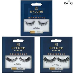 Eylure DRAMATIC False Eyelashes Reusable + Adhesive Glue - Intense Bold Lashes