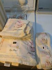 Emily Adams très bombshell bathroom accessories shower curtain, pail, towels