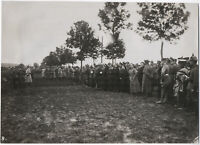 Militärparade an der Front, Original-Photo, um 1916