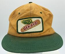 Vintage Dekalb Corn Embroidered Patch Front Snapback Hat K Products Made In USA