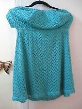 Charlotte Russe - Crochet Strapless Mini Dress w/ built-in padded bra -  Size S
