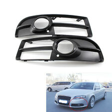 Front Lower Side Bumper Fog Light Grille Pair for Audi A4 B7 S-line S4 05-08 H00