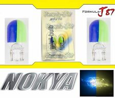 Nokya Light 194 Blue Yellow 5W Nok5055 Two Bulb License Plate Replace Stock OE