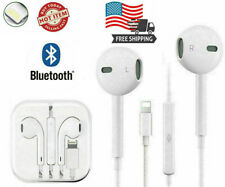 For iPhone 11 Pro Xr X Xs Max 8 7 Plus 6 Se Wired Bluetooth Earphones Headphones
