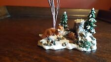 """Department 56 Village Accessories """"Foxes in the Forest"""""""