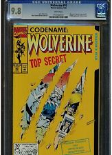 WOLVERINE #50 CGC 9.8 WHITE PAGES ORIGIN RE-TOLD 1992  X MEN APPEARANCE BLUE LAB
