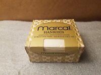 1974 Marcal Embossed Hankies Hemmed Edges Original Sealed Box Vintage Tissues