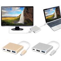 Type C USB 3 USB-USB HDMI 4K 3.0 Cavo adattatore Hub 3 in 1 per IOS PAD MAC