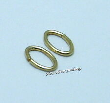 14K Gold Filled 4.9 x 7.6mm /19.5ga. 10pcs. Oval Jump Rings Open Findings U.S.A.
