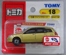 Unopened TOMY JAPAN Tomica #18 NISSAN WINGROAD 1/59 BLISTER CARD PACKING