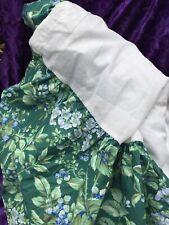 "Laura Ashley Bramble Berry FULL bedskirt dust ruffle   74"" x 80"""