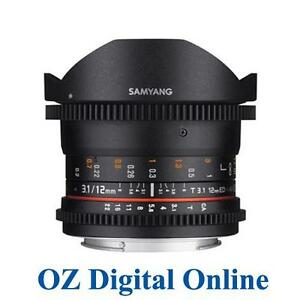 New Samyang 12mm T3.1 VDSLR ED AS NCS Fisheye Lens for Canon 1 Yr Au Wty