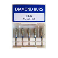 50pc Dental Diamond Burs 1.6mm EX12 Special Shape for High Speed Handpiece drill