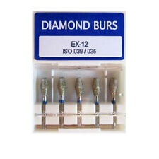 50pcs Dental Diamond Burs 1.6mm EX-12 Special Shape for High Speed Handpiece LNB