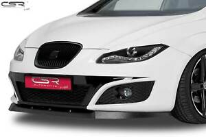 Cup Spoiler Lippe Front Ansatz Schwert ABE für Seat Leon 1P Facelift CSL090