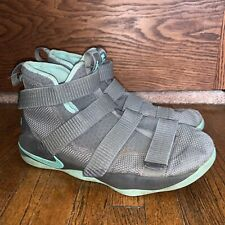 Nike Zoom Lebron Soldier XI 918369-003 Grey Teal Basketball Shoes Size 6.5 Youth