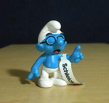 Smurfs Classic Brainy Smurf Pointing Finger Vintage Figure Schleich Toy 20536