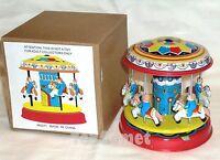 MS271 Pony Merry-Go-Round Carousel Retro Wind Up Tin Toy w/Box