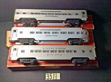 LIONEL# 2531,# 2533,# 2534 STREAMLINE ALUMINUM CARS IN ORIGINAL BOXES