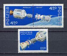 35889) POLAND 1975 MNH** Apollo Soyuz space test project 3v