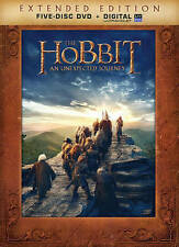The Hobbit: An Unexpected Journey (DVD, 2013, 5-Disc Set, Extended Edition) New