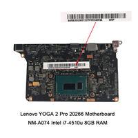 For Lenovo Yoga 2 Pro 20266 Motherboard i7-4510U 2.0GHZ CPU 8G VIUU3 NM-A074