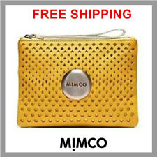 FREE POST MIMCO LOVELY MEDIUM POUCH YELLOW DANDELION LEATHER RRP129.95 DF