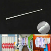 1*Curtain Rail Pole Rods Extendable Telescopic Spring Loaded Net Voile Tension #