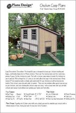 4'x6' Chicken Coop / Hen House Plans, Modern Roof Style, Material List Included