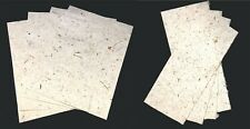 Handmade Mulberry Paper 8 sheets art craft decoupage LIGHT coconut paper
