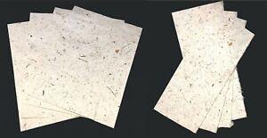 Handmade Mulberry Paper 10 sheets A5 art craft decoupage LIGHT coconut paper