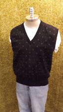 Beautiful Vtg TRICOTS ST RAPHAEL Wool Sweater Vest sz Lrg Very Classy !!