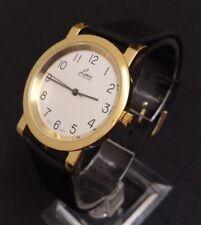 Vintage LACO By LACHER Quartz Herren Armbanduhr Echtleder Armband