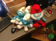 Smurf Plush Lot. Papa Smurf Happy.  Vg
