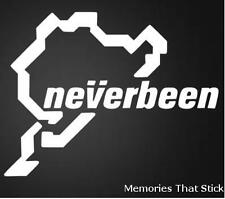 Neverbeen NURBURGRING Voiture Fenêtre pare-chocs 4x4 Jdm Euro VW Dub Vinyl Decal Sticker