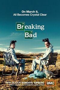 Breaking Bad poster print Bryan Cranston poster : 11 x 17 inches : Crystal Clear