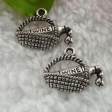 Free Ship 108 pcs tibet silver basket charms 19x15mm  #033