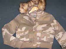 RETALL Girl's Zip Hooded jacket - CAMO - Size Medium - NEW