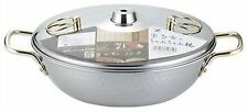 Japanese Stainless Steel Shabu Shabu Nabe Hot Pot 25cm SH9334 Made in JAPAN