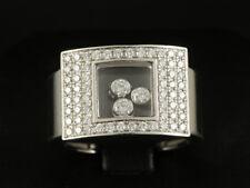 Chopard Square Happy Diamonds Anello Brillante ca. 0,72 CT. 18,2g 750/- Oro Bianco